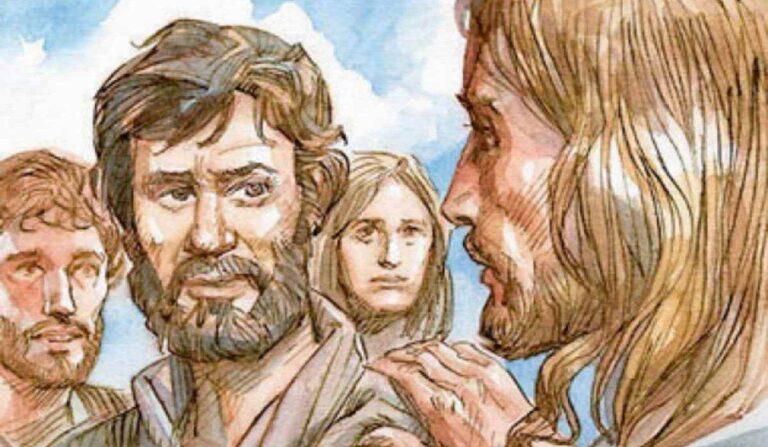 Gesù parla con Pietro